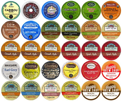 30 Count Top Brand Coffee Tea Cider Hot Cocoa And