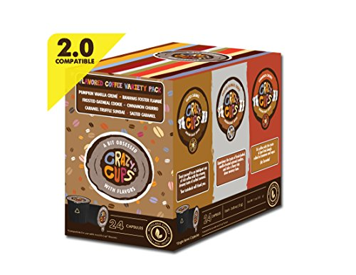 Crazy Cups Flavored Coffee Single Serve Cups Variety Pack